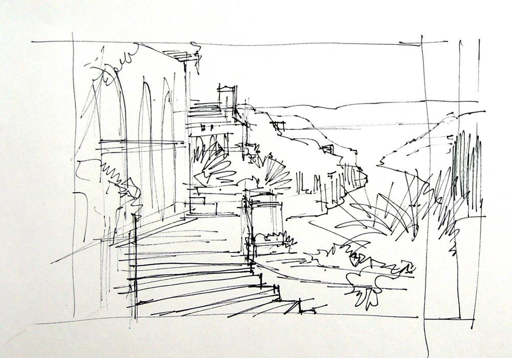 Drawing Lines With Oil Paint : Step the sketch mikki senkarik