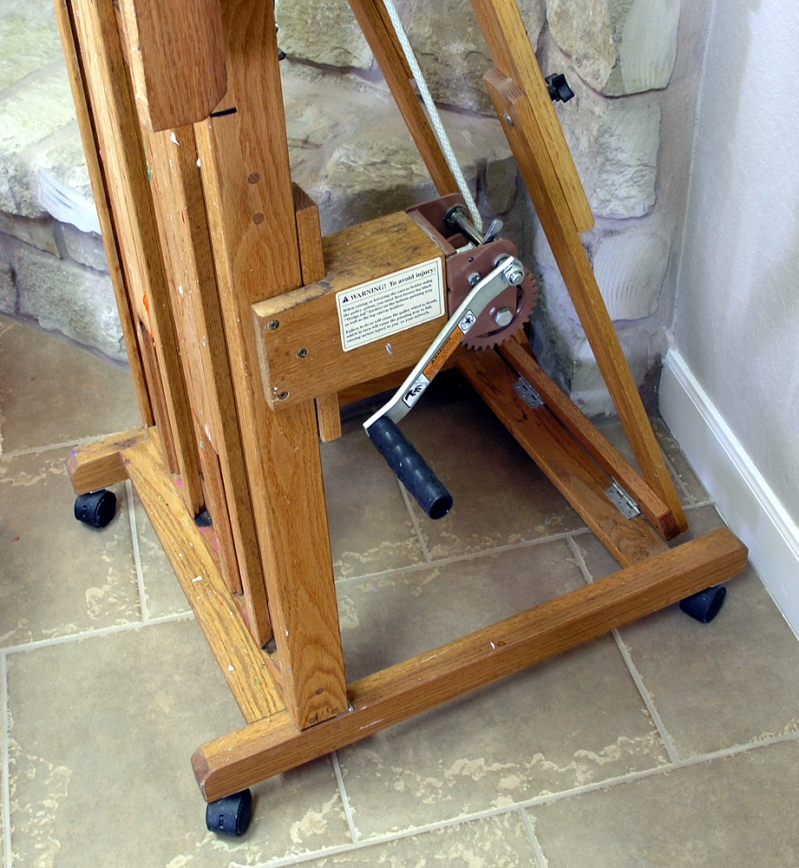 how to make a easel stand