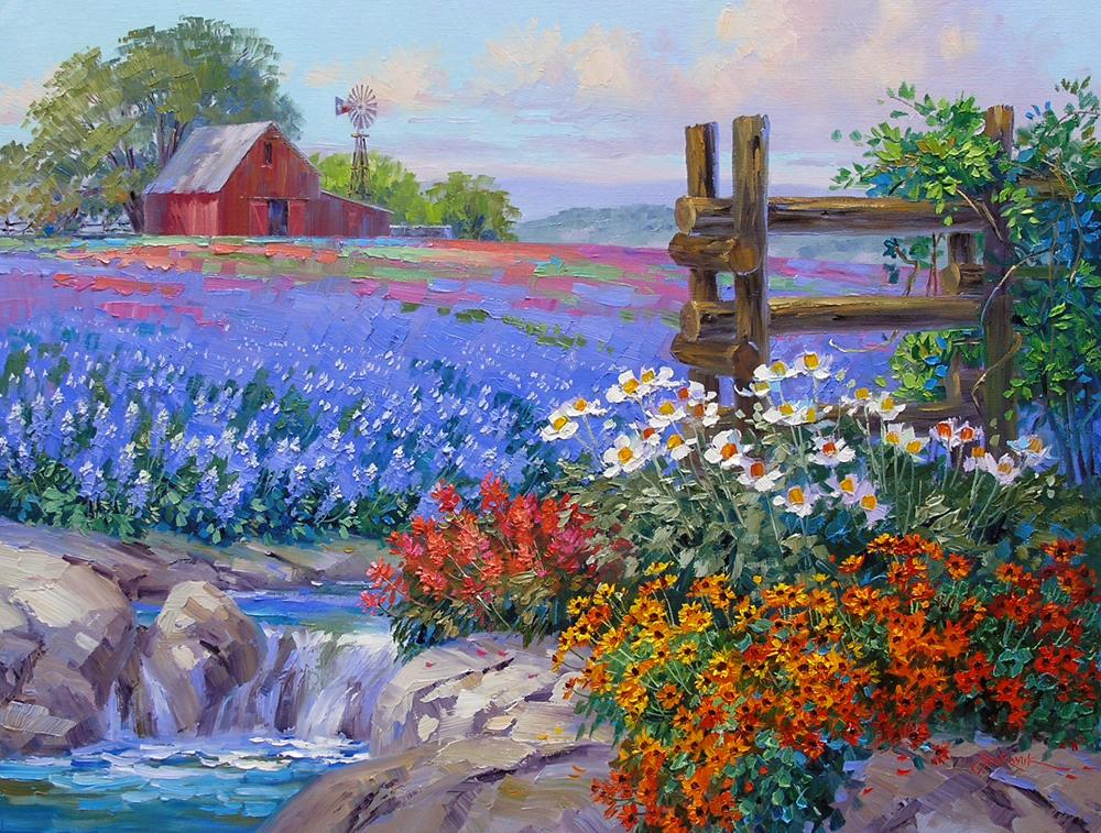 August 2012 mikki senkarik for Spring canvas paintings