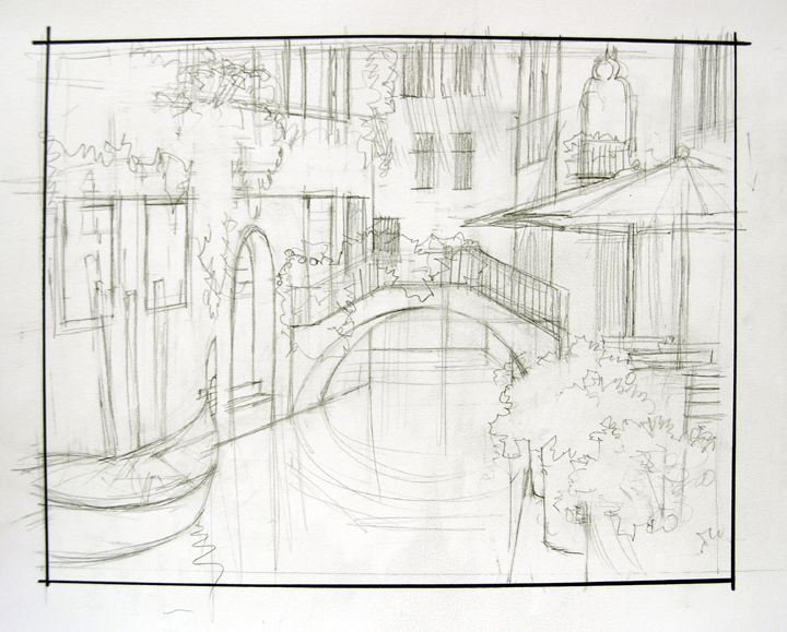 Line Drawing Venice : A hidden canal in venice mikki senkarik