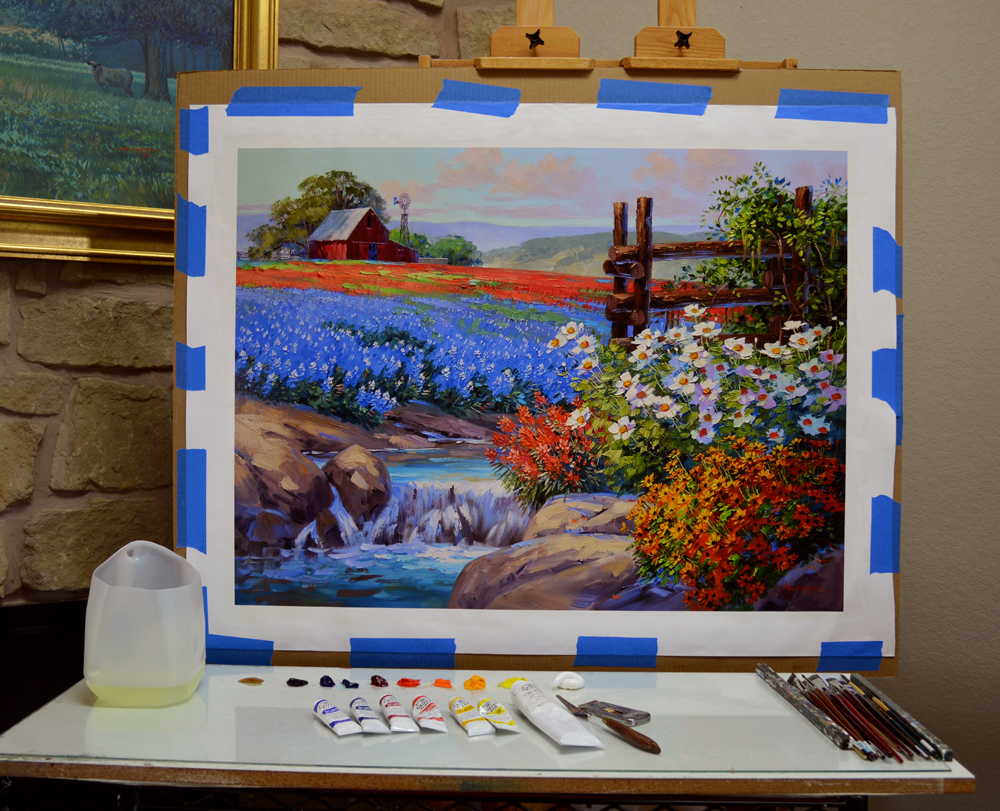 how to get started oil painting