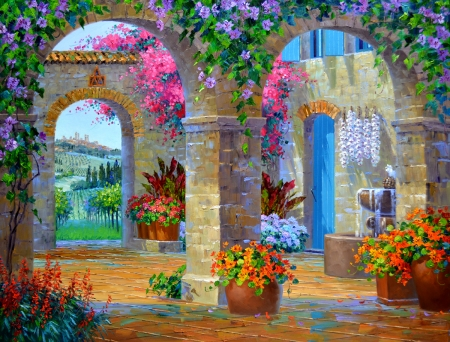 SA0113 A Glimpse of Tuscany  38x48