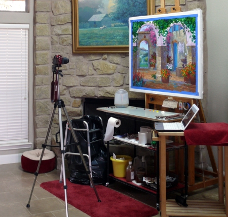 SA0113 photographing painting closeup