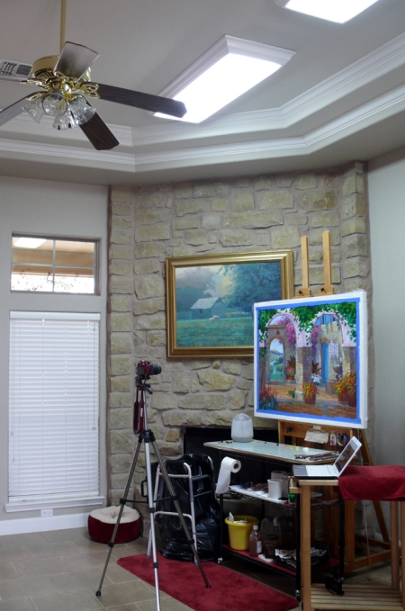 SA0113 photographing painting