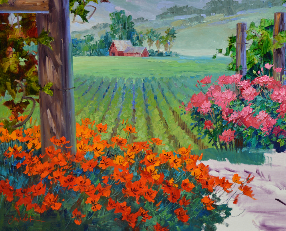 February 2013 mikki senkarik for Painting flowers in acrylic step by step