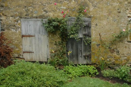 barn doors with roses 3