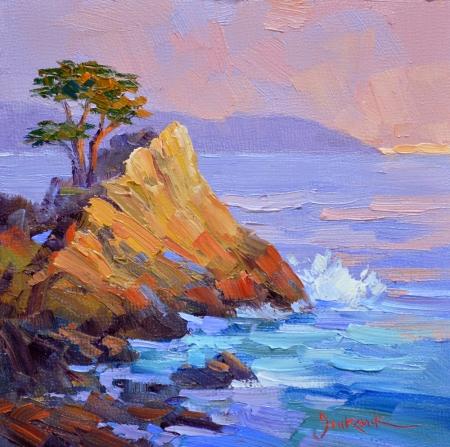 eb SG3813 Lone Cypress Sunset 6x6