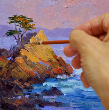 eb SG3813 Lone Cypress Sunset Step 3