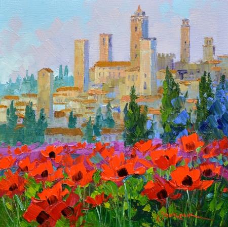 eb SG3913 San Gimignano Towers 6x6