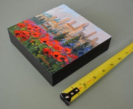 eb SG3913 San Gimignano Towers with ruler