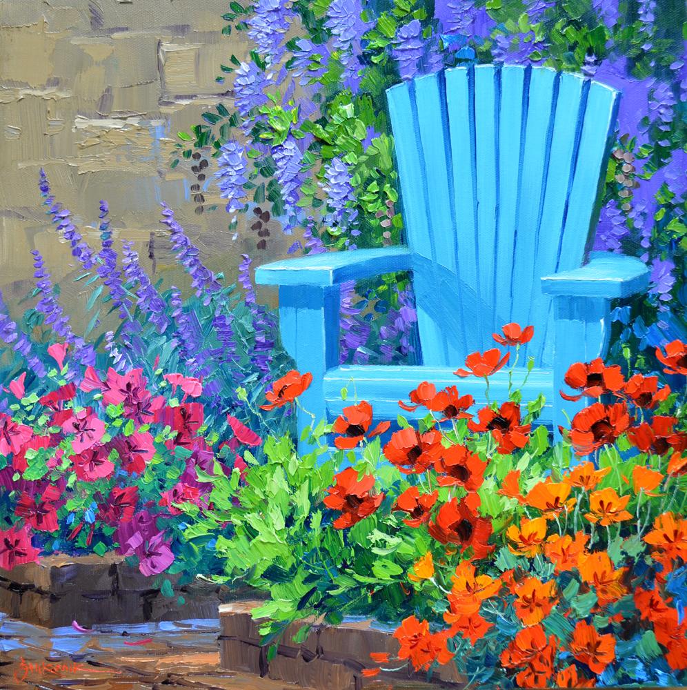 Painting flowers mikki senkarik for Spring canvas paintings