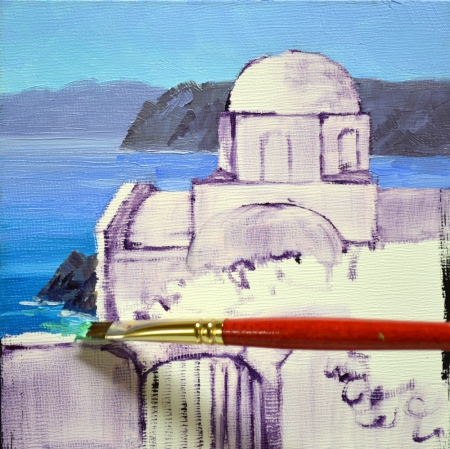 eb SH6203 Shimmering Santorini Step 1