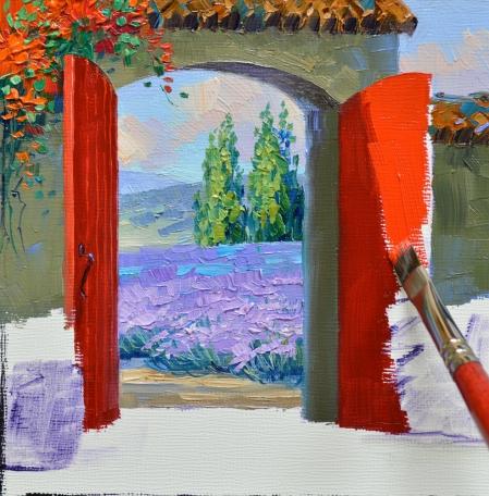 eb SI7513 Peaceful Courtyard Step 2