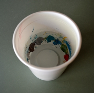 Paint in cup 2