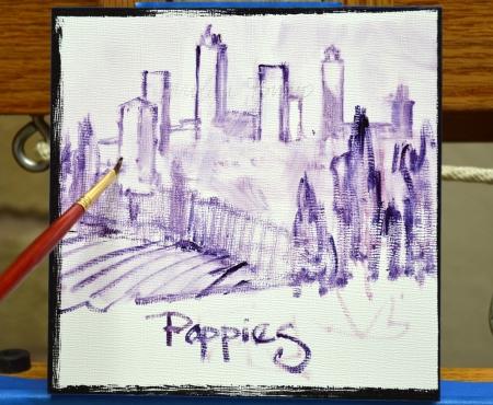 SI82123 San Gimignano Poppies Step 1