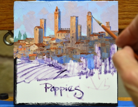 SI82123 San Gimignano Poppies Step 3