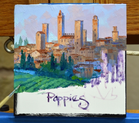 SI82123 San Gimignano Poppies Step 4