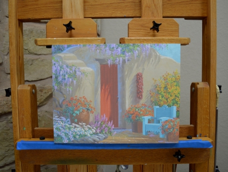 Panel full with easel