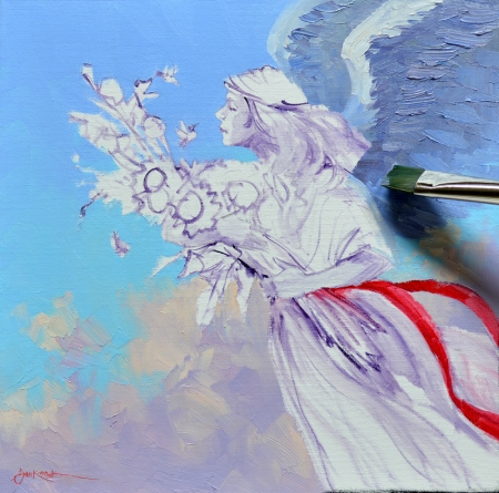 SA0114 Hummingbird Angel Step 2