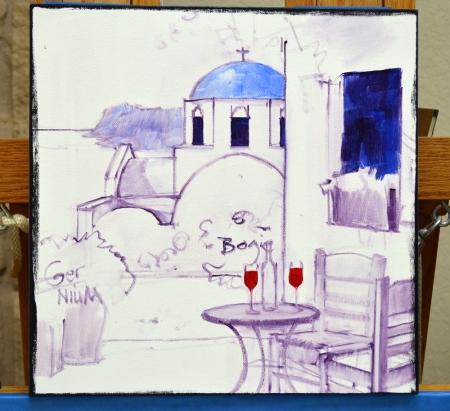 SA0614 Romance in Santorini Step 1