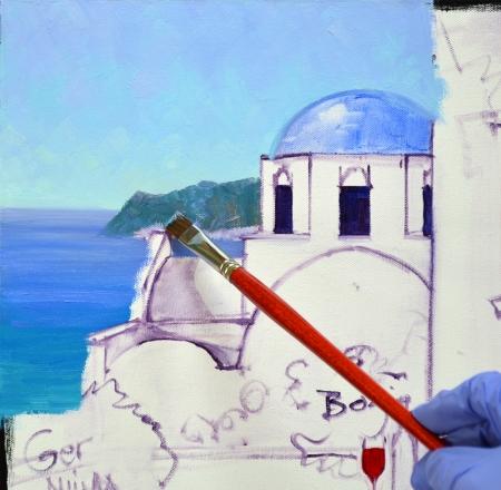 SA0614 Romance in Santorini Step 2