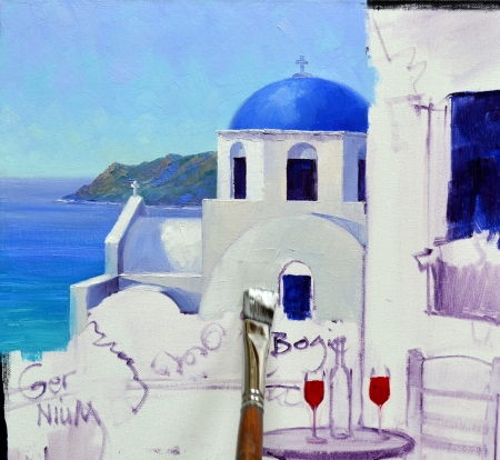 SA0614 Romance in Santorini Step 3