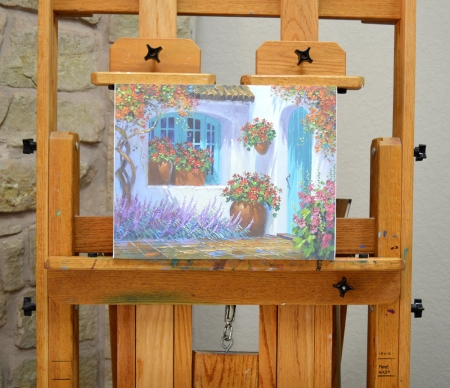 Kit D Floral Splendor panel on easel