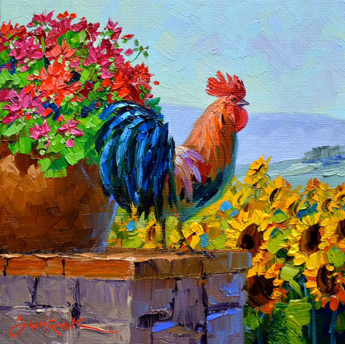 Sunflowers Of Tuscany Mikki Senkarik