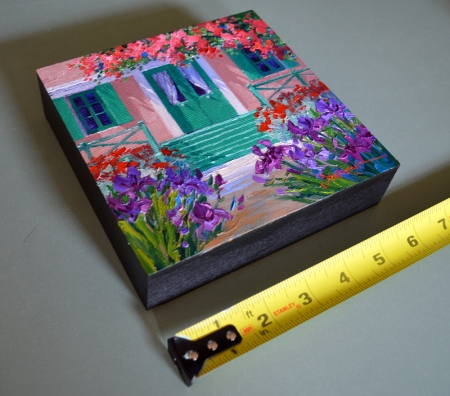 SB1414 La Maison de Monet 6x6 with tape