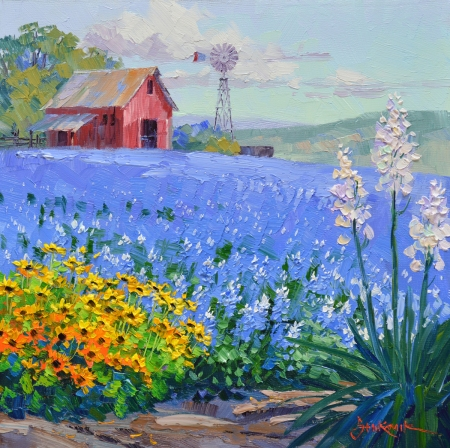 SC2914 Blanketed with Bluebonnets 10x10