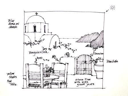 Sketch Pollio - Santorini