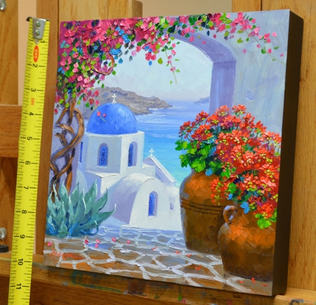 SF5214 Splendor of Santorini 10x10 with tape