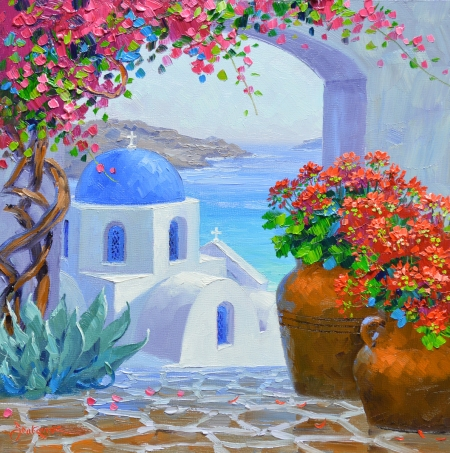 SF5214 Splendor of Santorini 10x10