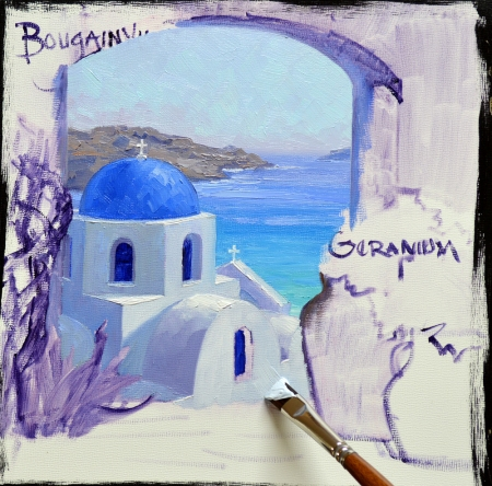 SF5214 Splendor of Santorini Step 3