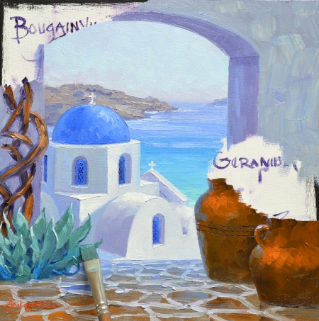 SF5214 Splendor of Santorini Step 5