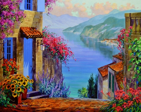 LO Reflections of Lake Como 2-49 30x36