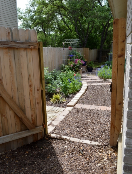 2015-4-10 Kitchen Garden through gate