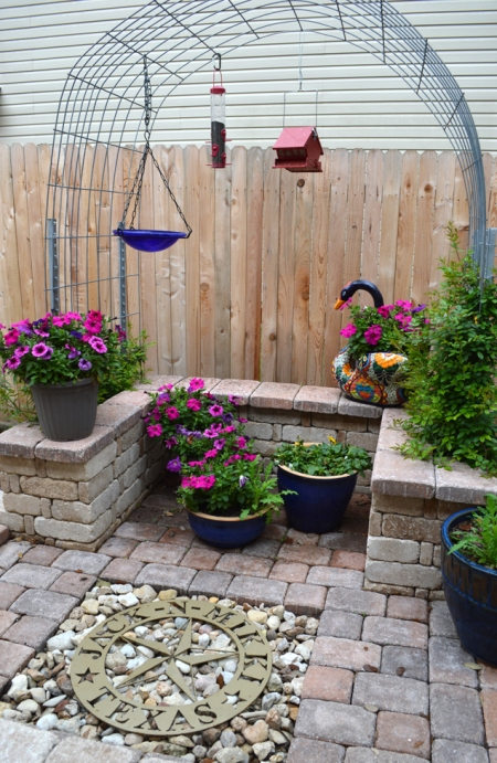 2015-3-19 Rose arbor - kitchen garden 1