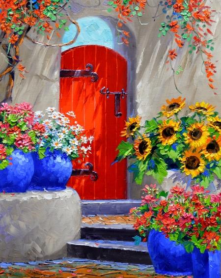 SI4215 A Flourish of Color 14x11