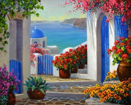 LO Magic of Santorini 1-45 16x20