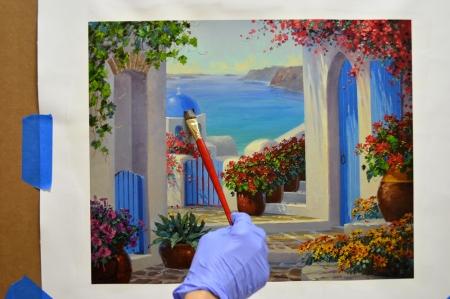 LO Magic of Santorini step 1