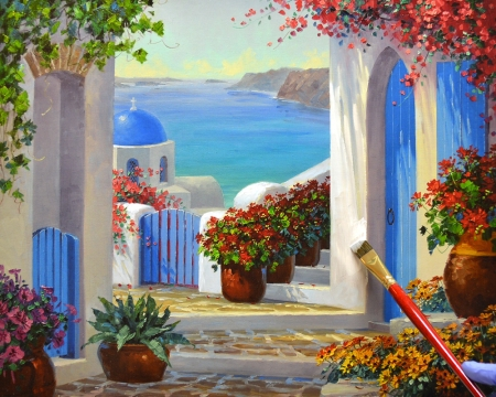 LO Magic of Santorini step 2