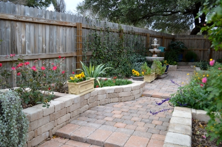 2016-1-26 Courtyard from under arbor