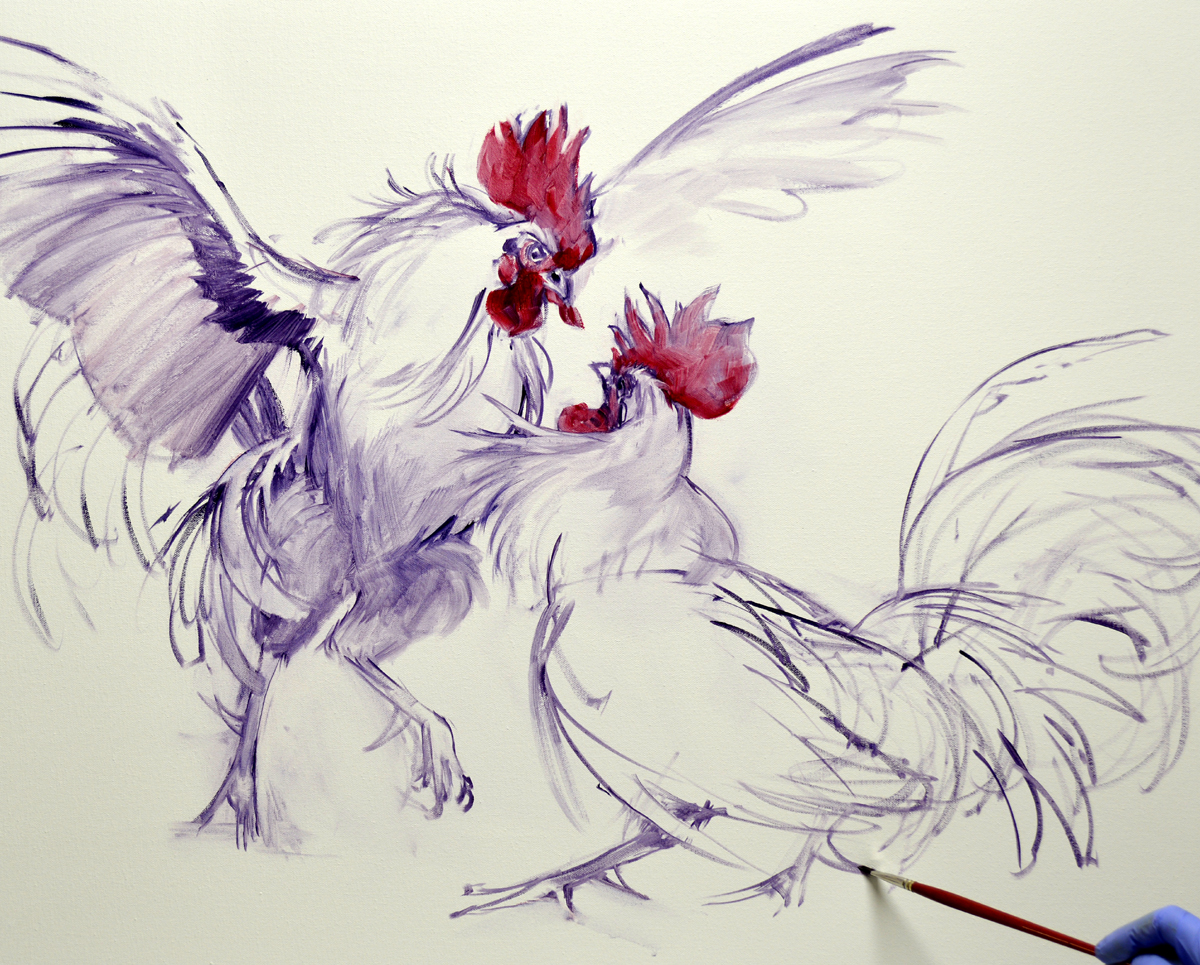 The cock for all his feathers